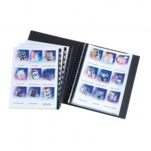 Elba Press-Book à pochettes amovibles 40 vues en PVC rigide opaque aspect marbré haut de gamme A3 Noir