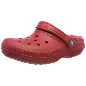 Crocs Classic Lined Clog, Sabots Mixte Adulte, Rouge (Pepper) 46/47 EU