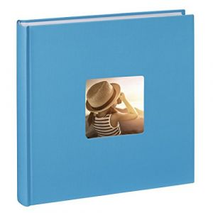 Hama Jumbo Album-photo Fine Art (30 x 30 cm, 100 pages, 50 feuilles, avec encoche pour insertion de la photo) bleu clair
