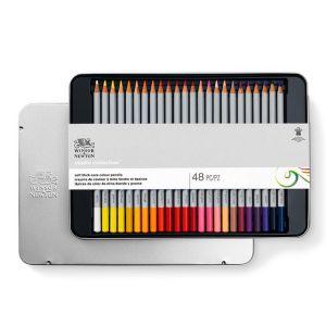 Winsor & Newton Set de 48 crayons de couleur Studio