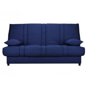 Canapé clic clac en tissu FARWEST avec coffre de rangement Bleu nuit