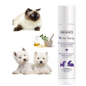Biogance White Spray - Shampooing sec blancheur pour chien et chat