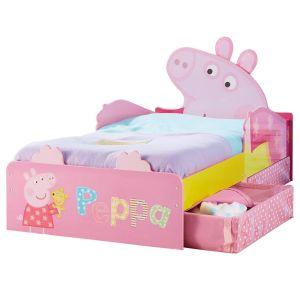 Worlds Apart Lit pour enfant Peppa Pig Design avec tiroirs de rangement (140 x 70 cm)