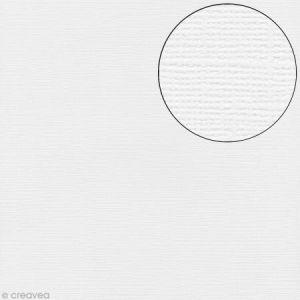 Artémio Papier texture toile blanc 30x30cm