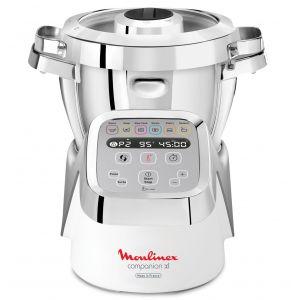 Moulinex Yy3979fg Robot cuiseur multifonction 4.5l 1500w blanc/inox companion xl
