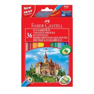Faber-Castell 36 Crayons de couleur Eco + taille crayon