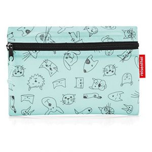 Reisenthel Sac de sport grand format, Cats And Dogs Rose (Rouge) - IH4062