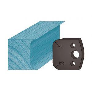 Diamwood Platinum Jeu de 2 contre-fers profilés Ht. 38 x 4 mm double congé A03 pour porte-outils de toupie