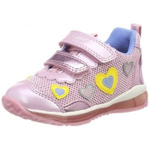 Geox B Todo A Sneakers Basses bébé Fille, Rose (Lt Pink) 23 EU