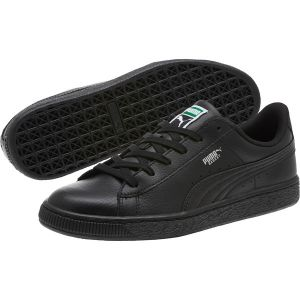 Puma Basket Classic LFS Jr, Sneakers Basses Mixte Enfant, Noir Black Black, 38.5 EU