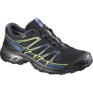 Salomon Homme Wings Flyte 2 GTX Chaussures de Trail Running, Imperméable, Noir/Bleu Foncé (Night Sky/Snorkel Blue/Graphite), Taille: 41 1/3