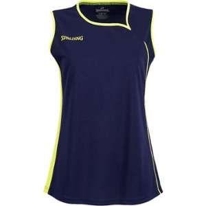 Spalding Spalding 4her II Maillot de basket Femme Bleu Marine/Jaune Paille FR : XS (Taille Fabricant : XS)