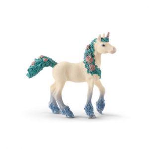 Schleich Figurine poulain licorne aux fleurs Bayala 70591