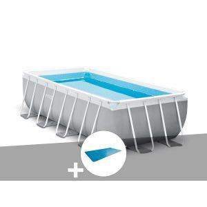 Intex Kit piscine tubulaire Prism Frame rectangulaire 4,00 x 2,00 x 1,00 m + Bâche à bulles