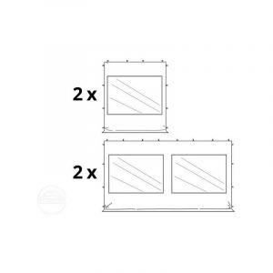 Intent24 Fr - Tente Pliante 3x6 m - 4 côtés Aluminium Barnum Chapiteau Pliant Tonnelle Stand Paddock Réception Abri mauve