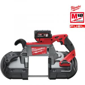 Milwaukee Scie à ruban Fuel 18V M18 CBS125-502C 18V Li-Ion 5.0Ah