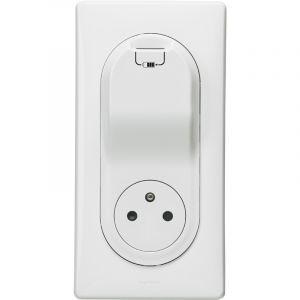 Legrand CELIANE KIT PRISE 2 POLES + TERRE + PORT USB PLAQUE BLANC -