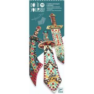 Djeco Kit 3 Sabres mosaïques à décorer