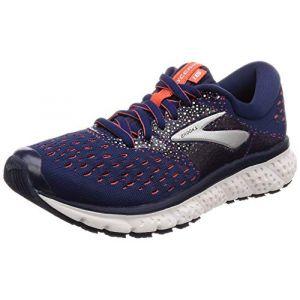Brooks Glycerin 16 Chaussures de Running Femme, Bleu (Navy/Coral/White 494) 41 EU