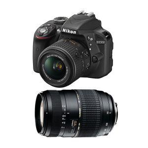 Nikon D3300 (avec 2 objectifs 18-55mm et Tamron 70-300mm)