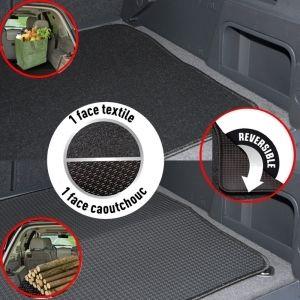 DBS Tapis de coffre en PVC et moquette 90 x 70 cm