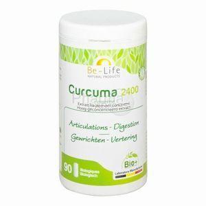 Bio life Curcuma 2400 + pipérine bio 90 gélules