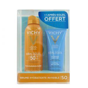 Vichy Idéal Soleil - Brume hydratante invisible SPF50+ en 200 ml & lait apaisant