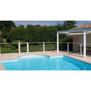 Chalet et Jardin Barrière transparente de sécurité pour piscine (96 x 112 cm)