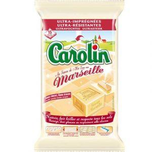 Carolin Lingette sol savon de Marseille x 15 - Comparer avec Touslesprix.com