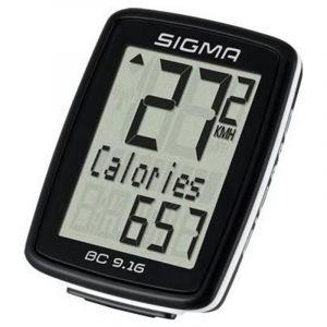 Sigma BC 9.16 ordinateur vélo à fil Noir/Blanc Standard