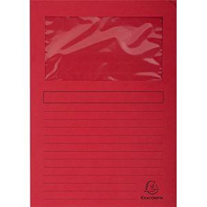 Exacompta 50105E - Paquet de 100 chemises à fenêtre FOREVER, coloris rouge