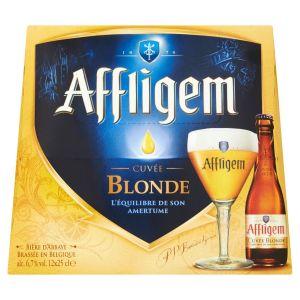 Affligem Lot de 12 bouteilles de Bière - Blonde - 6,7 ° - 25 cl