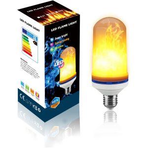 Lampesecoenergie Pack de 2 Ampoules LED flamme effet feu scintillement culot E27 ref 946