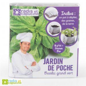 Radis et capucine Jardin de poche Basilic