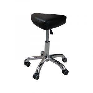 Eyepower Tabouret de Travail MST-407 chaise pivotante 360° réglable en hauteur siège rembourré en forme de selle avec roulettes   poids supporté 120 kg   idéal pour coiffeur esthéticien cabinet médical   noir