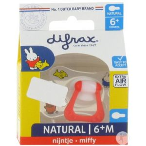 Difrax Sucette Natural 6+ mois miffy 1 pc(s) 8711736055678
