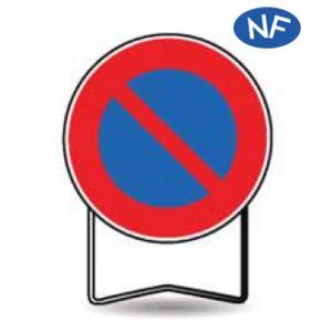 Taliaplast 524007 - Panneau signalisation prescription b6a1 stationnement interdit t1 850mm