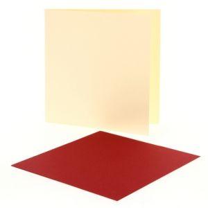 Pollen 25 cartes pliées 210 g/m² (160 x 160 mm)