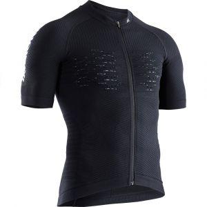 X-Bionic Effektor G2 Maillot de cyclisme Manches courtes Zip Homme, black melange M Maillots route