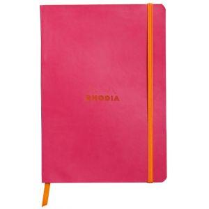 Rhodia 117412C - Carnet souple Rhodiarama framboise format 14,8 x 21 cm 160 pages - ligné