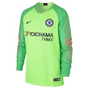 Nike Maillot de football à manches longues 2018/19 Chelsea FC Stadium Goalkeeper pour Enfant plus âgé - Vert - Taille M