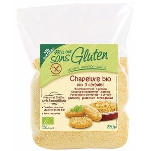Ma vie sans gluten Chapelure Bio aux 3 céréales (220g)