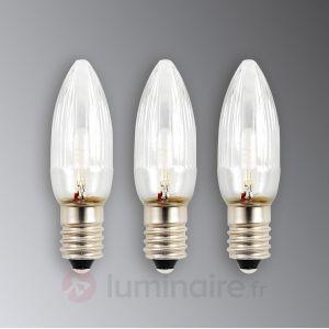 Konstsmide 3 ampoules de rechange E10 0,12W 6V