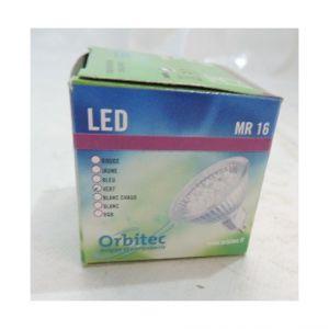 Orbitec Ampoule LED 1.18W 12V AC lumière vert culot G5.3 20lm angle 25° miroir dichro MR16 ouvert (LE1010G) 180105