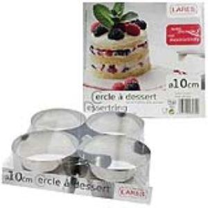 Lares 6074 - 4 cercles à pâtisserie en inox
