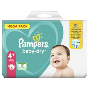 Pampers Baby-Dry Taille 4+. 82 Couches