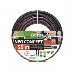Cap Vert Tuyau d'arrosage Néo Concept - Diamètre 25 mm - Longueur 50 m