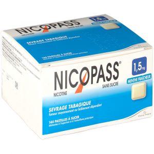 Pierre Fabre Nicopass Menthe fraicheur s/s 1,5 mg - 12 Pastilles