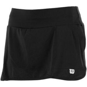 Wilson Femme Jupe de Tennis, W TEAM 12.5 SKIRT, Polyester/Spandex, Noir, Taille M, WRA766202