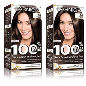 Garnier 100% Ultra Brun Coloration permanente 4.0 Le Châtain Intense